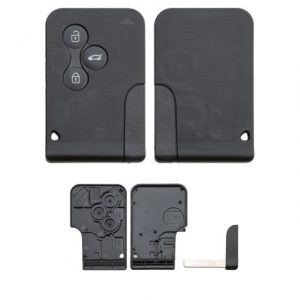 Gehäuse ohne Logo leer 3 Knopf m. Schlüssel, Megane, Renault®, Scenic, Scenic II