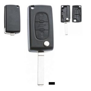 Gehäuse ohne Logo leer 3 Knopf, Batterie auf Platine, 407, C3, C3 Picasso, C5, Citroen®, DS®, DS3 / DS3 CROSSBACK (D34),