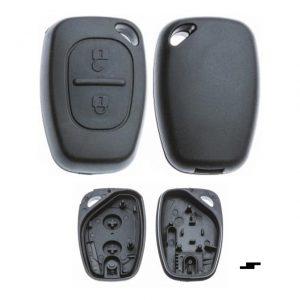 Gehäuse ohne Logo leer 2 Knopf, Kangoo, Master, Movano, Opel®-Vauxhall®, Renault®, Trafic, VIVARO (K0)