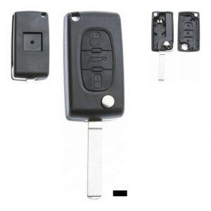Gehäuse ohne Logo leer 3 Knopf, Batterie auf Gehäuse, 407, C3, C3 Picasso, C5, DS®, DS3 / DS3 CROSSBACK (D34),