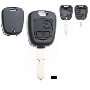 Gehäuse ohne Logo leer 2 Knopf, 406, 607, Peugeot®