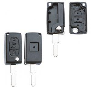 Gehäuse ohne Logo leer 3 Knopf, Batterie auf Platine, 406, 607, Peugeot®